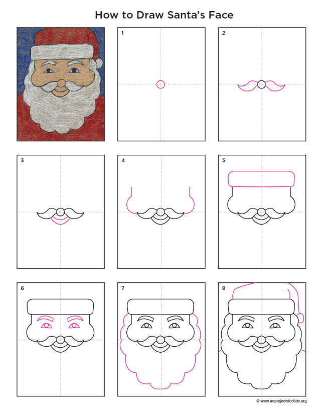 Santa Face Diagram