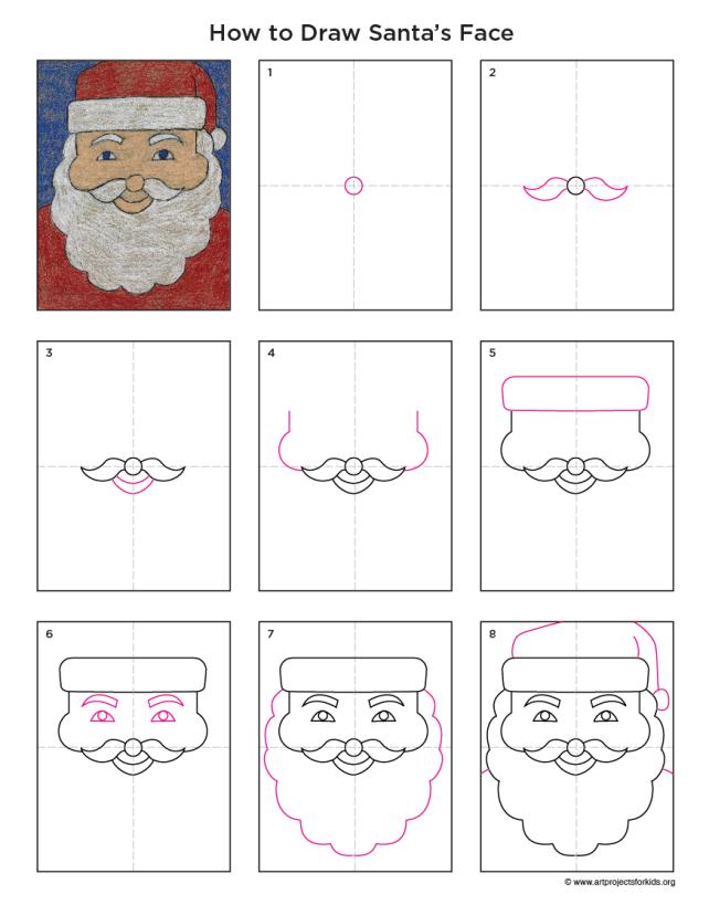 Santa Face Diagram