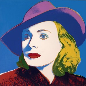 ingrid-berman-with-hat-1983-by-andy-warhol